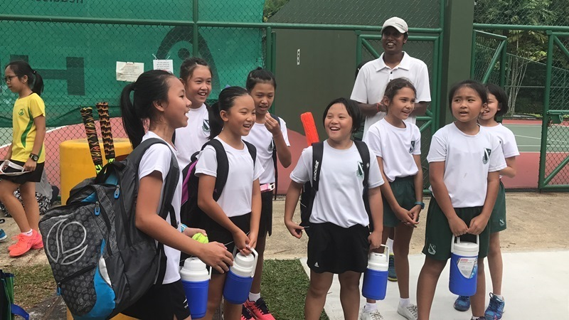 Our School Team in high spirits during the Tennis Championships.JPG